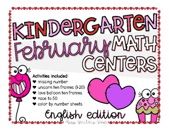 February Math Centers in English