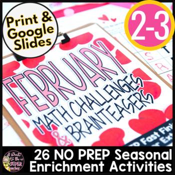 February Math Challenges & Brainteasers-Valentine & Holida