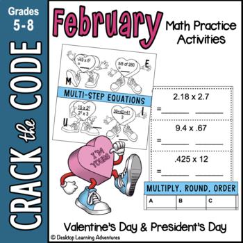 February Math: Computation, Rounding & Ordering Decimals - Crack the Code