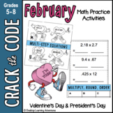 February Math : Computation, Rounding & Ordering Decimals - Crack the Code