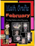 February Math Crafts 2-Digit Addition without Regrouping