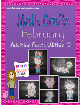 February Math Crafts  Addition Facts within 10