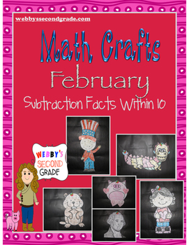 February Math Crafts  Subtraction Facts within 10