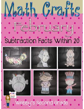 February Math Crafts Subtraction Facts within 20