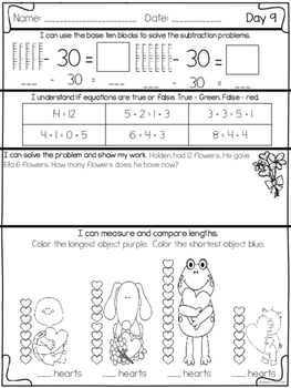 February Math Daily Practice