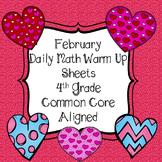 *No PREP* February 4th Grade Math Daily Review Warm Up Com