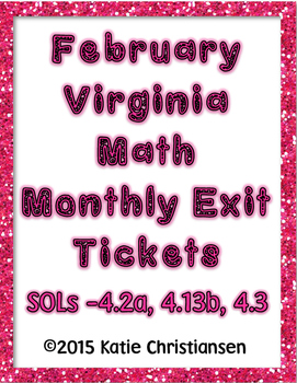 February Math Exit Tickets