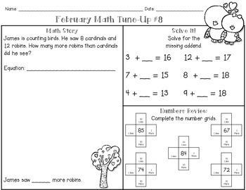 February Math First Grade