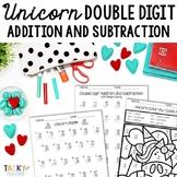 Unicorn Math Fluency Pack | Double Digit Addition & Subtra