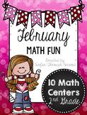February Math Fun - Second Grade Math Centers