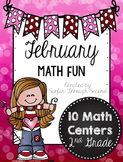 February Math Fun - Second Grade Math Centers