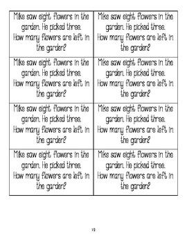 February Math Journal Cut Outs