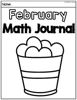 February Math Journal (Kindergarten - Common Core)