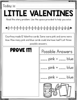 February Math Journal (1st Grade)