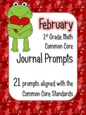 February Math Journal Prompts - 1st Grade. Common Core