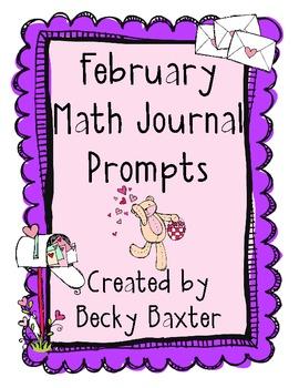 February Math Journal Prompts- Kindergarten CC