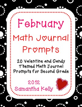 February Math Journal Prompts for 2nd Grade