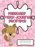 February Math Journal Prompts for First Grade