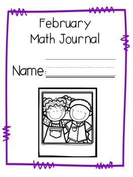 February Math Journal Second Grade