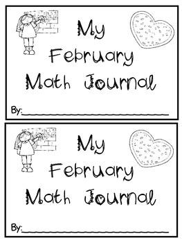 February Math Journals {First Grade}