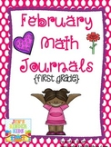 February Math Journals {First Grade}