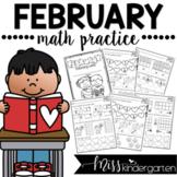 February Kindergarten Math Practice