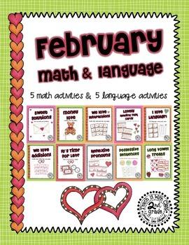 February Math & Language 2nd Grade