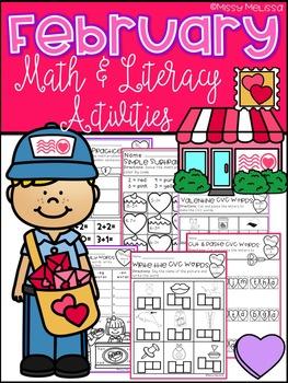February Math & Literacy Activities