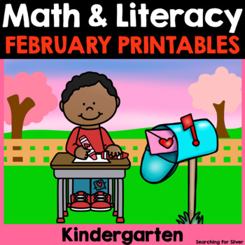 February Math & Literacy No-Prep {Kindergarten}