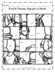 February Math & Literacy Picture Puzzles