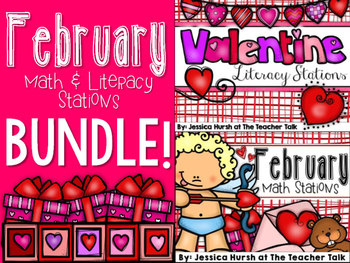 February Math & Literacy Stations