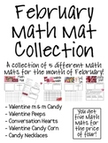 February Math Mat Collection:  ASSORTED FIVE PACK