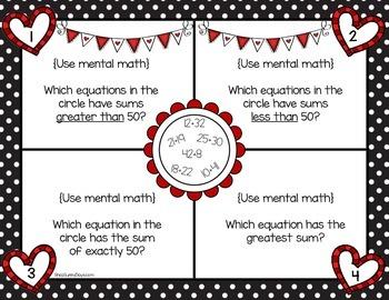 February Math Mats {second grade}