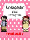 February Math Morning Work