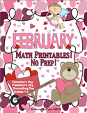 February Math Printables! Groundhog Day Valentine's No Pre