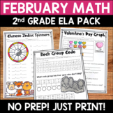 February Math Pack: No Prep Printable Worksheets/Activitie
