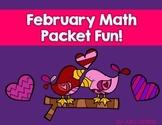 February Math Packet Fun