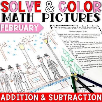 February Math Pictures: Addition and Subtraction