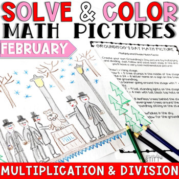 February Math Pictures: Multiplication and Division
