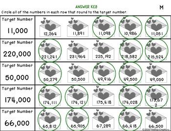 February Math Printables