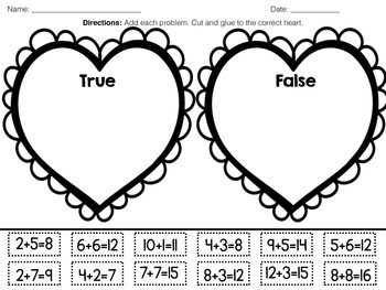 February Math Printables Made Easy
