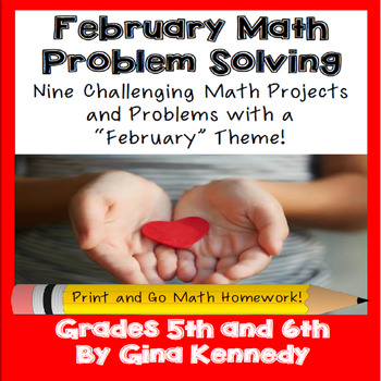 February Math Problem Solving Projects for Upper Elementary Students