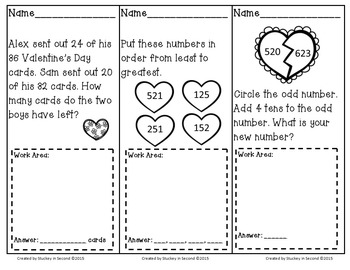 February Math Problem Solving Tasks