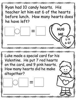 February Math Problem of the Day Mini Book