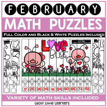 February Math Puzzles | Valentine's Day Activities