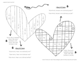 February Math Skill Practice/Coloring Page