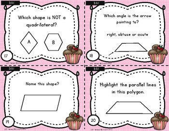 February Math Spiral Review Task Cards