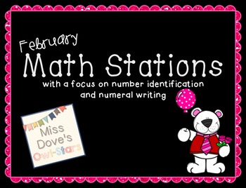 February Math Stations/Centers (Valentine's Day Theme)