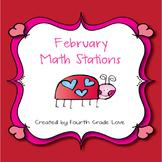 February Math Stations-NO Prep!