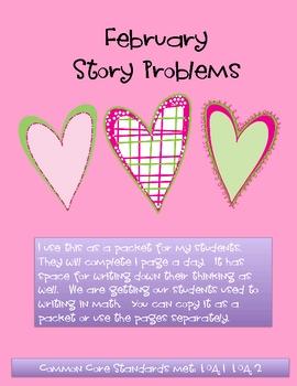 February Math Story Problems